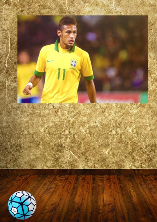 HD 3D Football Poster soccer ball star Brazil football team Neymar mural wall poster barcelona soccer college dorm kids wall art(China (Mainland))