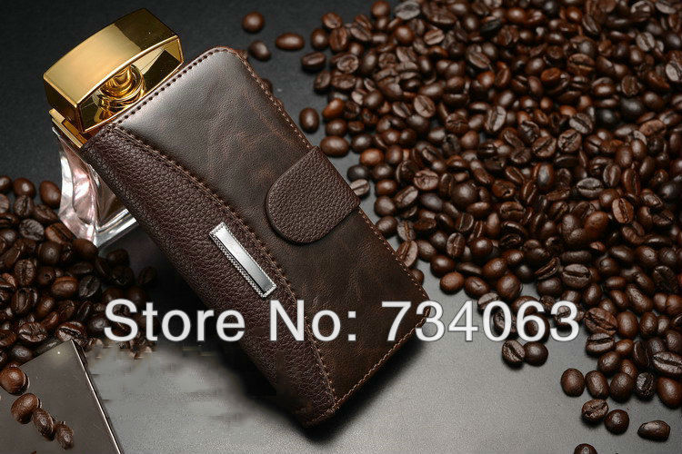 Luxury Hybrid Lichee and Crazy Horse Wallet Leather Flip Cover Case for iPhone 5/5s with Card Holder Free Shipping OS55