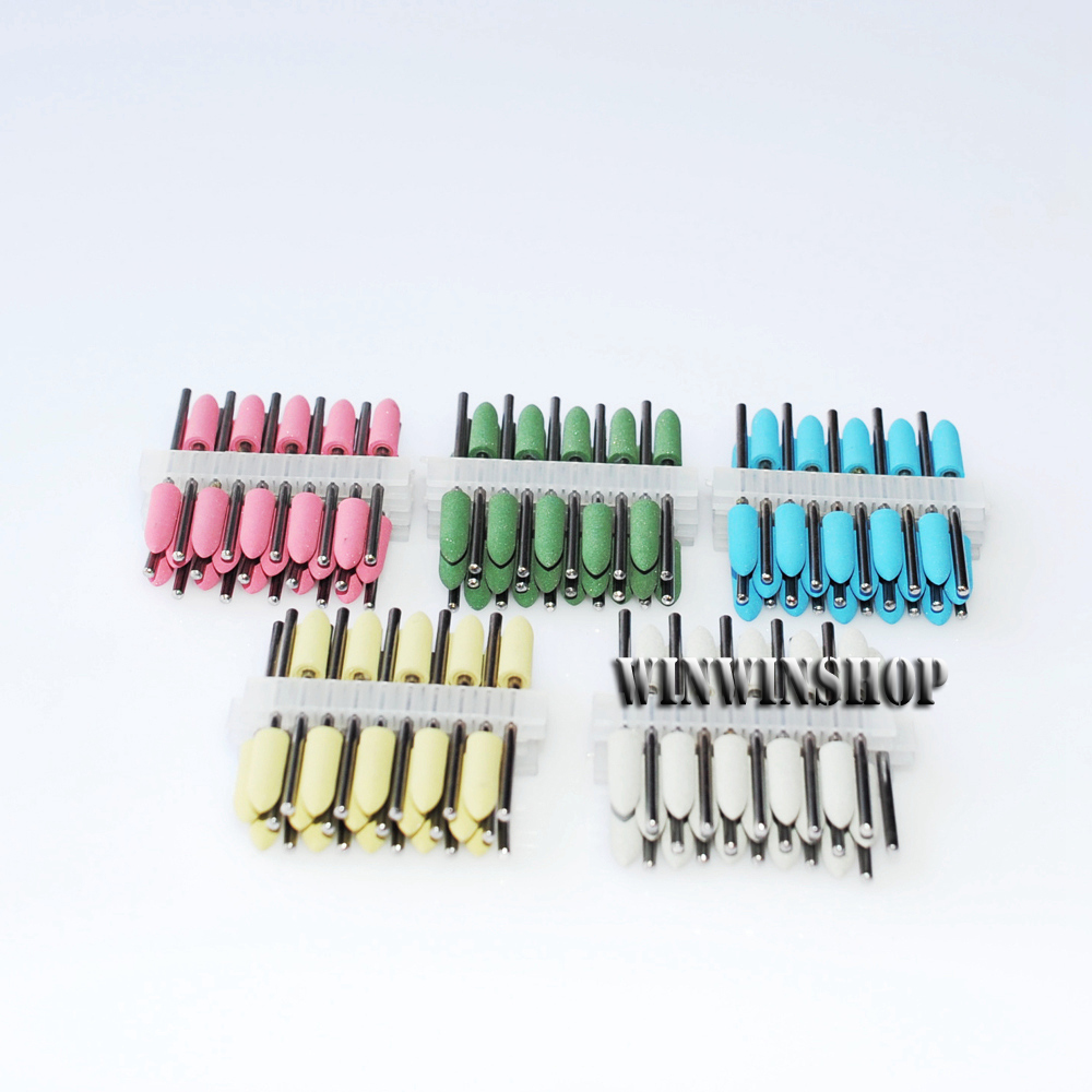 Colorful Dental SILICONE Polishers Resin Base Acrylic Polishing Burs 150Pcs