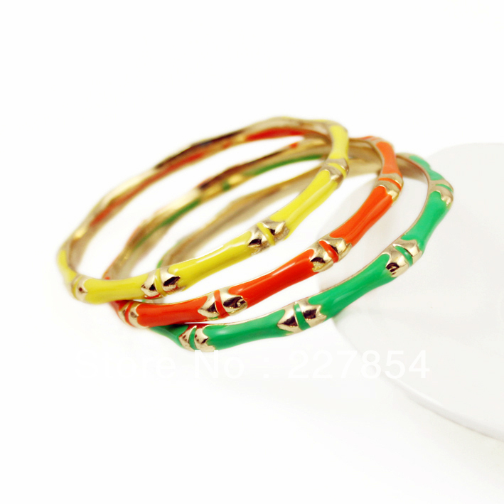 Accessories candy color punk neon birthday gift bracelet female fashion gift Free Shipping(China (Mainland))