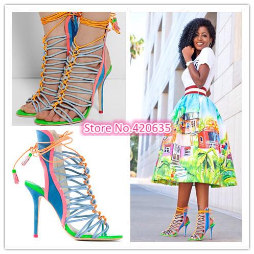 multi colored sandal heels | Kjpwg.com