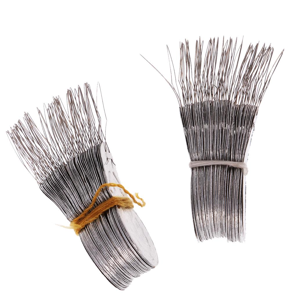 100Pcs/Lot Bow Wire Needle Threader Aluminium Stitch Insertion Machine Hand Sewing Threaders For Cross Stitch Art Crafts