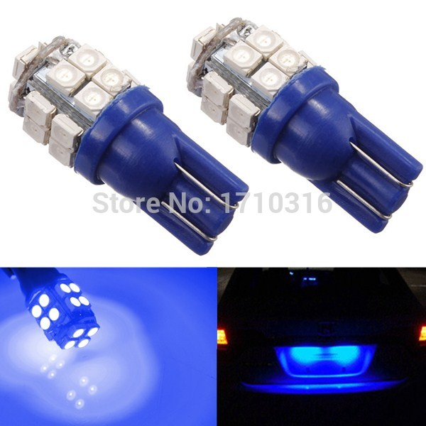 10pcs/lot T10 W5W 194 168 20 LED 1210 3528 SMD Car Auto Side Wedge Parking Lights Tail Lamp Bulb DC12V White Red Blue(China (Mainland))