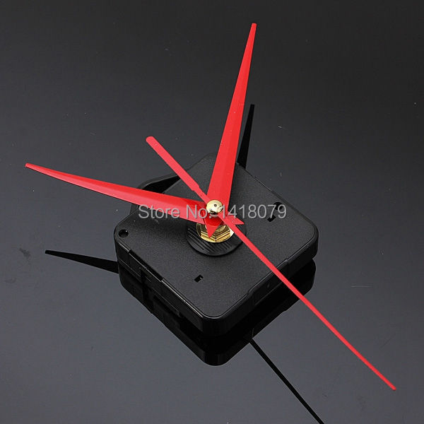 Red Triangle Hands DIY Quartz Black Wall Clock Movement Mechanism Repair Part FREE SHIPPING(China (Mainland))