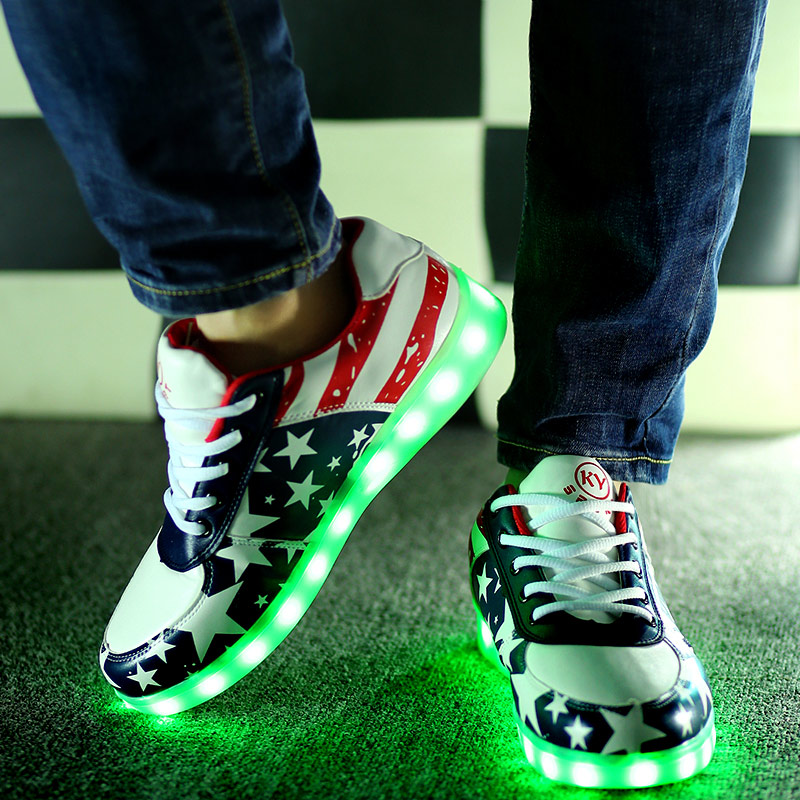Shoes women led shoes for adults 12 colors women casual shoes led luminous shoes man 2015 fashion led light shoes<br><br>Aliexpress