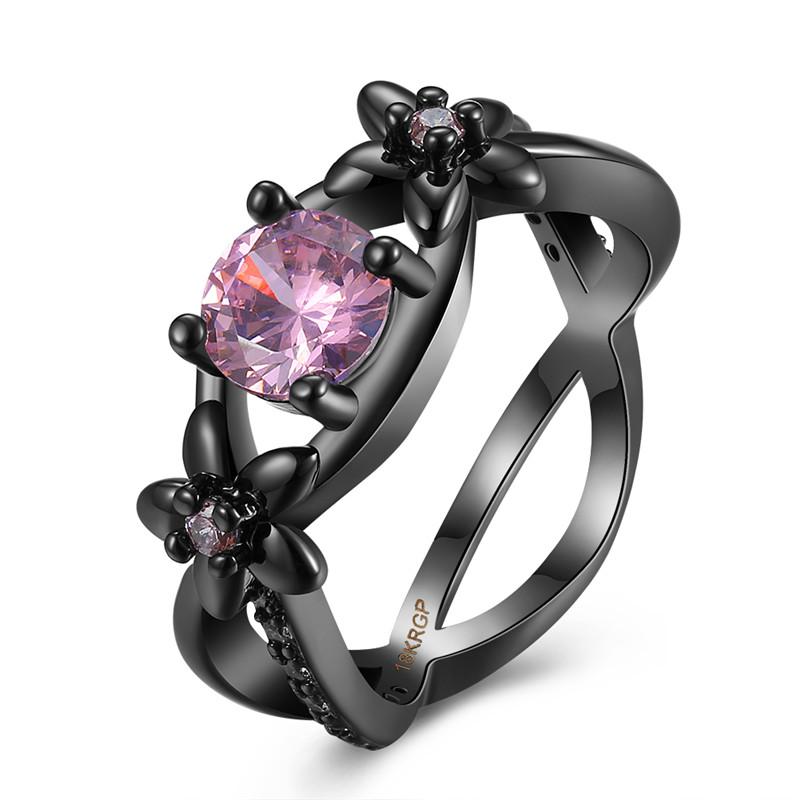 get cheap pink birthstone rings aliexpress