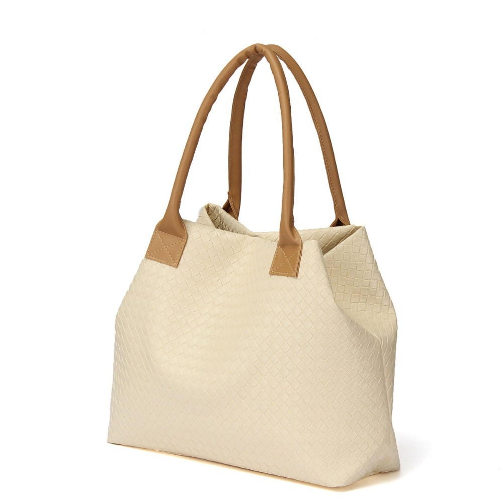 Fashion Handbag Lady Candy Color Vintage Handbag Messenger Shopping Tote Bag Solid Versatile Multifunction Weave Summer Bags(China (Mainland))