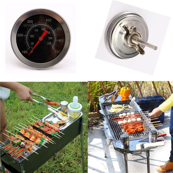 Stainless steel BBQ Accessories Grill Meat Thermometer Dial Temperature Gauge Gage Cooking Food Probe Household Kitchen