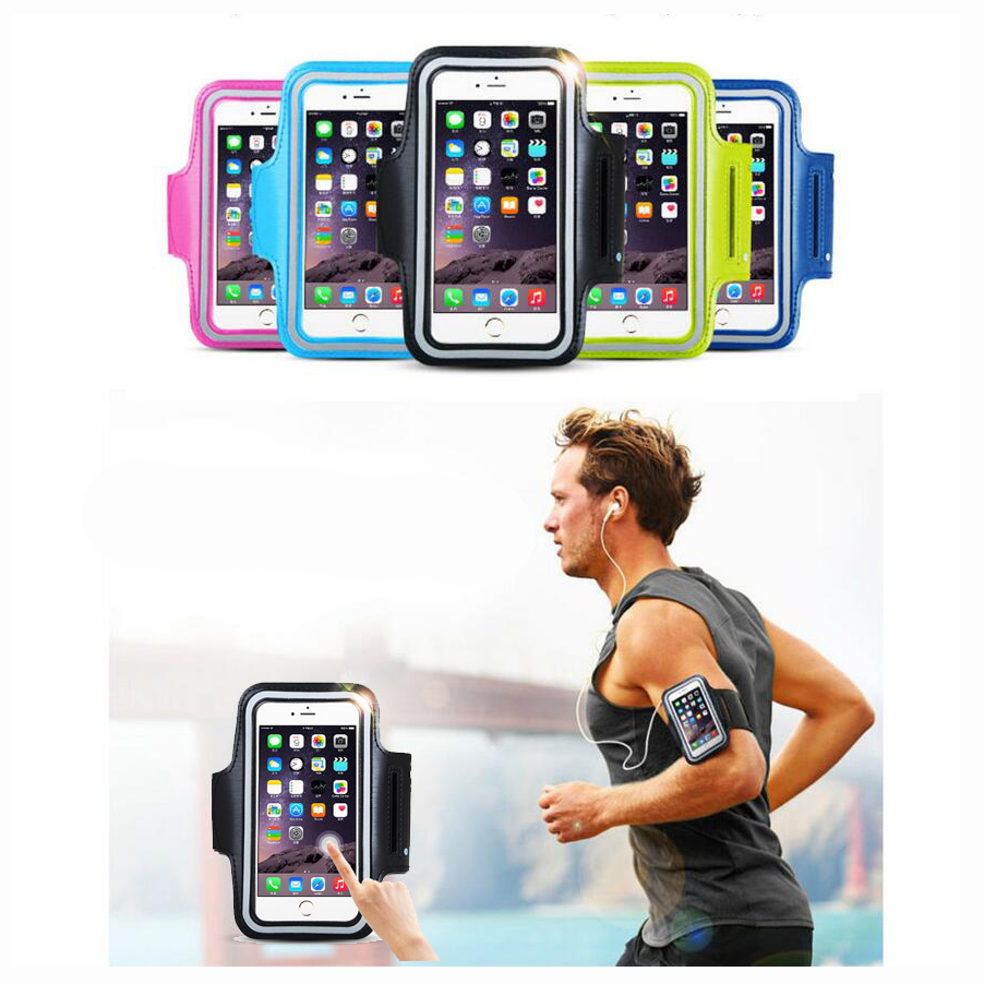 5'' Phone Waterproof Sports Running Arm Band Leather Case Armband For Huawei Enjoy 5S Ascend P7 P8 Lite C8816 A199 G628 D2(China (Mainland))