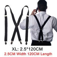 4 clips Черный Цветed men's suspenders for men 2.5cm Женщины's Брюки with ...