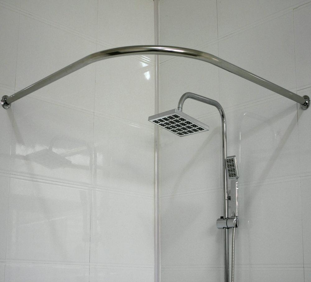 How To Size Curtains Angled Shower Curtain Rod