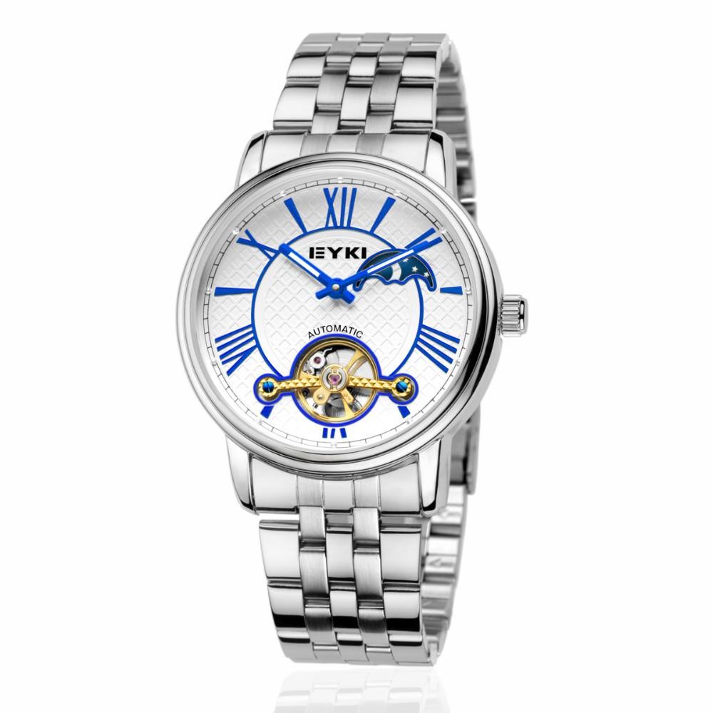 Релох eyki часы для мужчин класса люкс качество известная марка топ бренды Из Нержавеющей стали дневной и вечерней моды значки