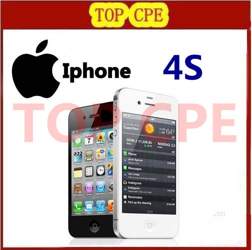 In sealed box Iphone 4S Original 4S GPS WIFI 3.5 Screen 16GB / 32GB / 64GB storage Dual Core Phone 1 year warranty(China (Mainland))