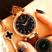 Fashion Women Watches 2019 Best Sell Star Sky Dial Clock Luxury Rose Gold Women's Bracelet Quartz Wrist Watches New Dropshipping(China)