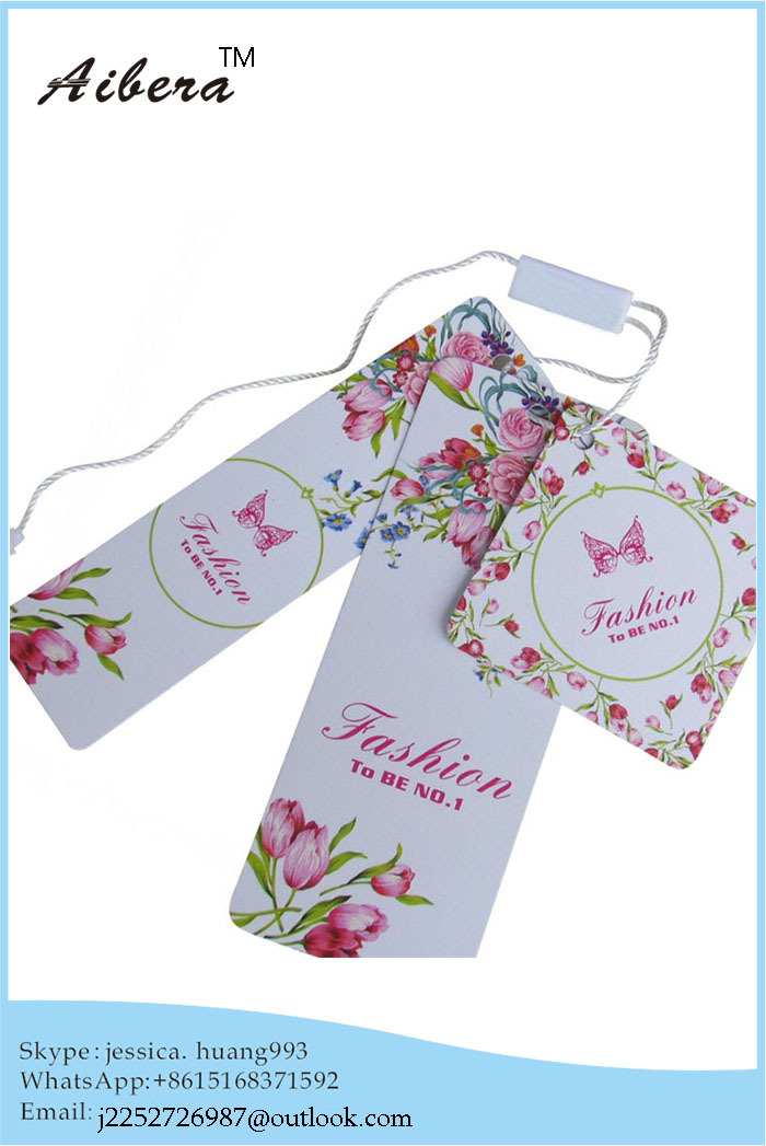 2015 Nice Design Price paper hang tag for clothing personalized garment hang tags for apperal(China (Mainland))