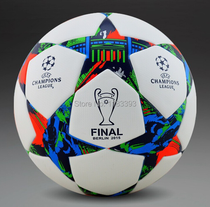 Hot Sale 2015/14/13/12 Champions League Particles Soccer ball seamless TPU granules slip-resistant size 5(China (Mainland))