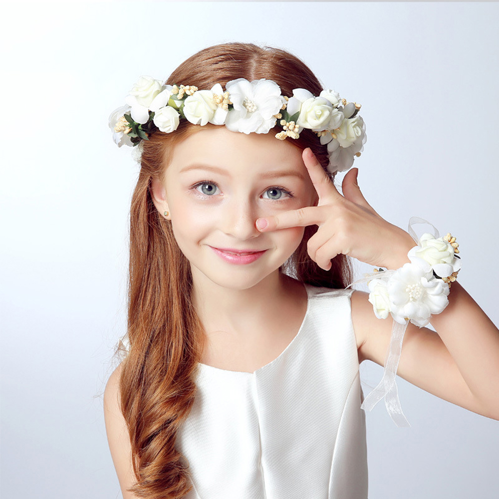 Wholesale summer wedding bride party girl lace flowers floral crown wholesale summer wedding bride party girl lace flowers floral crown garland headband hand flower wreath sets for women lady hair accessories wedding izmirmasajfo Gallery