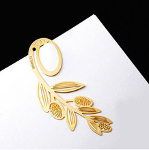 Gold Bookmark Creative  Metal Bookmarks for books Marker Wedding Favors and  Gifts A variety of styles SQ14070312(China (Mainland))