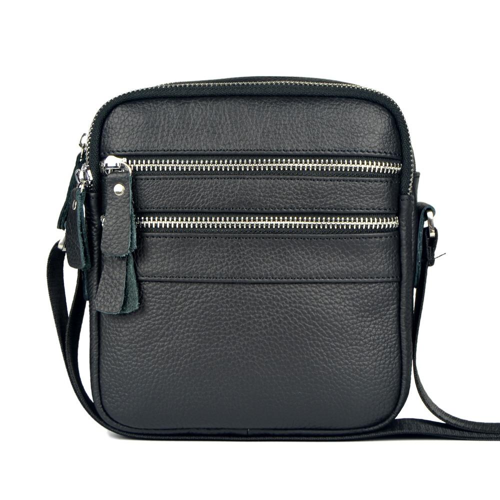Famous Designer Genuine Leather Small Shoulder Bags For Men Business Messenger Bags Cowhide ...