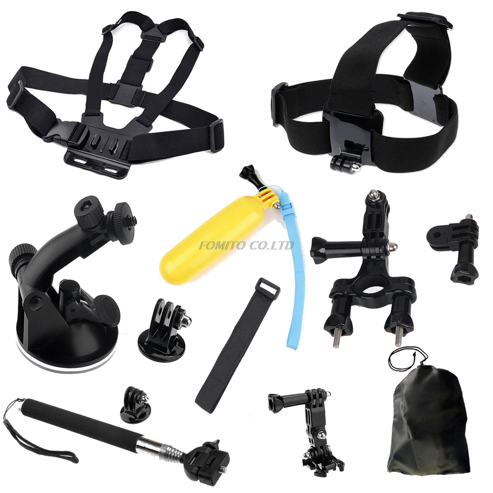 Chesty Chest Head Mount Strap Floating Grip Tripod Monopod Ski Pole 9 In 1