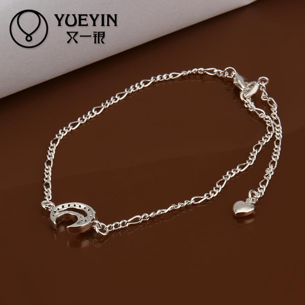 A022 Unique Nice Sexy New Design Large Stock Delicate Handmade Cheap Silver Plated Anklet Bulk Sale(China (Mainland))