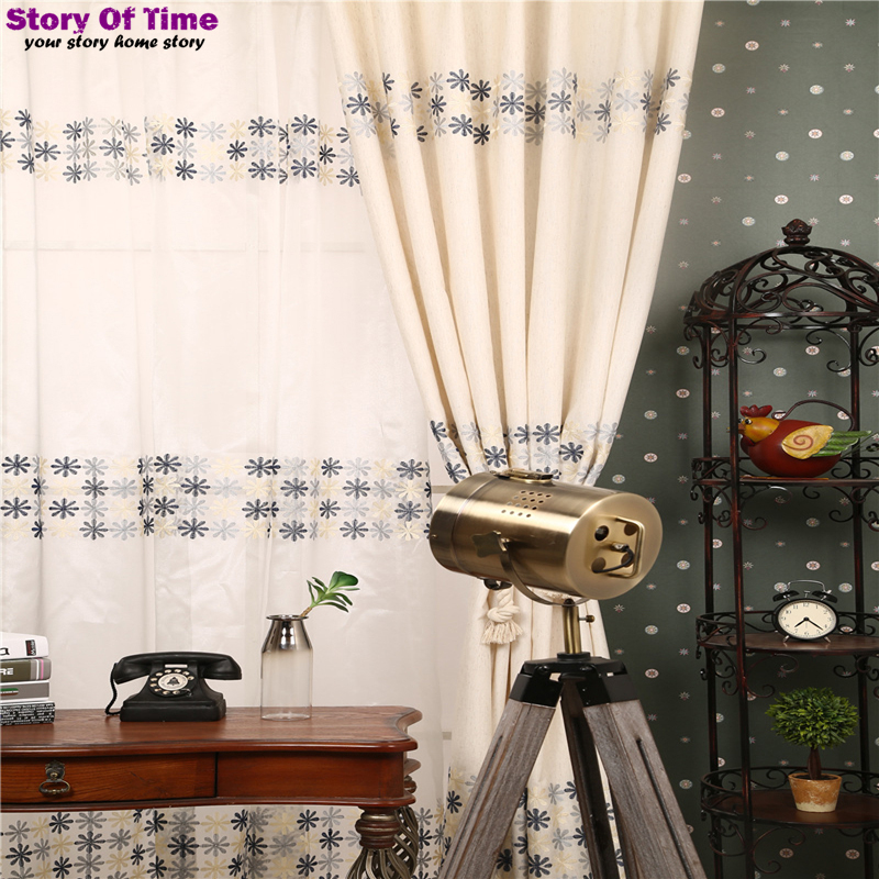 Brand New free shipping floral print curtains drapes insulated window shades living room curtains in curtains voile curtain(China (Mainland))