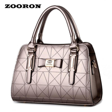 New spring/summer 2016 Women PU leather handbags bowknot with the female bag women messenger high quality bags