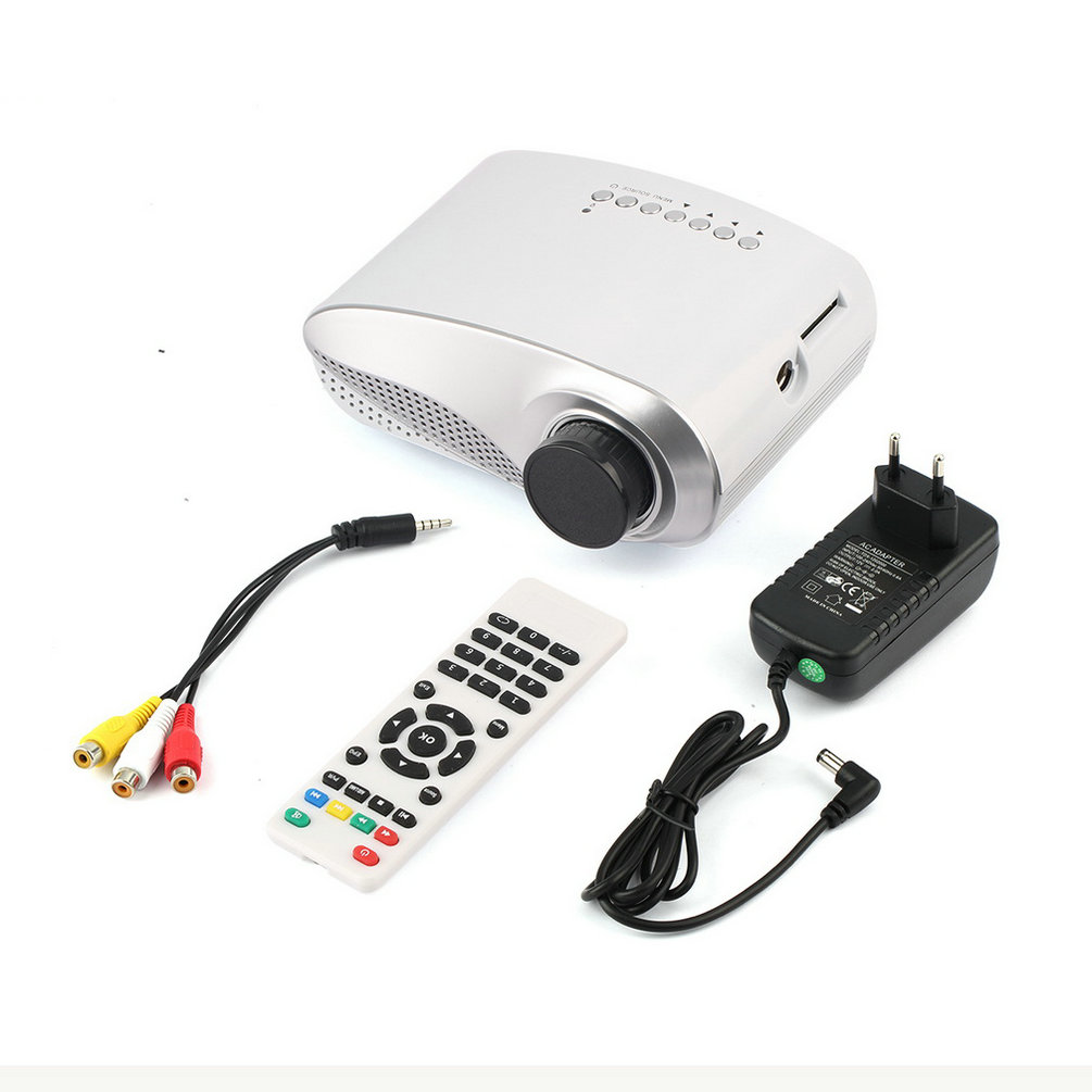 High Quality USB SD HDMI TV VGA HD LED Video LCD 1080P 3D Mini Home Theatre Portable Entertain Multimedia Projector(China (Mainland))