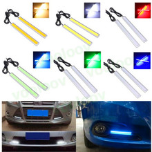 1pc 17cm 6w Auto DRL Daytime Driving Running Light waterproof COB Chip LED Car Styling Daylight ,Paking Fog Bar Lamp