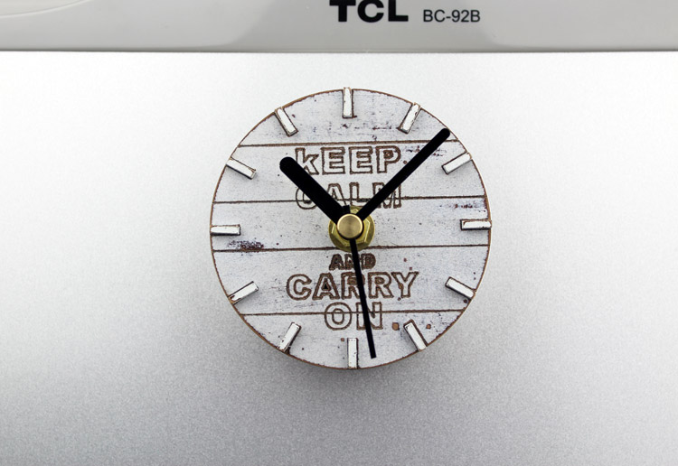 Modern Refrigerator Fridge Magnet Clock 3.3' Portable Retro Vintage Wall Clock With Motto Mini Wall Clock Keep Calm And Carry On(China (Mainland))