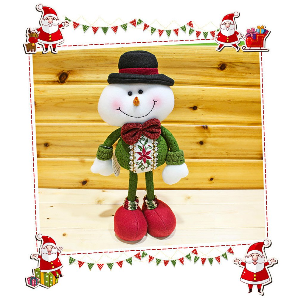 Christmas Toy Doll Multi-style Flexible Christmas Standing Snowman Doll Ornament Christmas Gift for Kids Children Presents(China (Mainland))