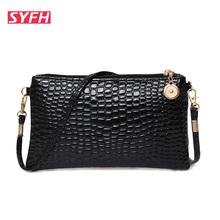 Casual women pu handbag clutch bag fashion women bags Crocodile women Crossbody shoulder bag women messenger bags purse bolsas