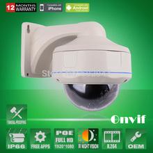 Onvif h.264 2.0 megapixel 1080 p full hd poe ip camera 30 ir esterno vandal-proof dome telecamera di sorveglianza  (China (Mainland))
