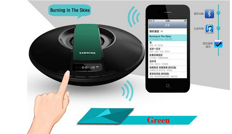 Original Sardine SDY-021 Big power Portable Wireless Bluetooth Speaker 8W Stereo audio sound with microphone Broadcast Caller(China (Mainland))