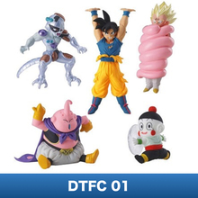 Dragon Ball SUPER Figure Toys – Bandai Gashapon DTFC 01 ~Frieza,Son Goku,Vegeta,Dumplings,Buu~Ultimate Deformed Mascot (5PCS)