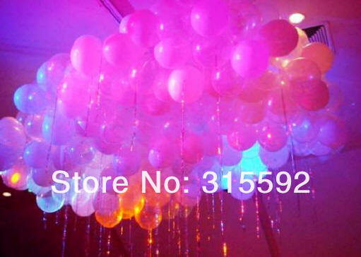 Free shipping 500pcs/lot 12inches color changing New LED balloon light up balloon 5 colors mixed for Wedding Decoration
