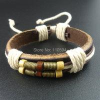 Мода конопли веревки старинный кожаный браслет Браслеты мужчин ювелирных изделий aliexpresss