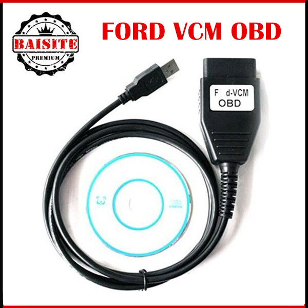 2016 Quality A+++ For Ford VCM OBD Diagnostic Interface Cable For Ford/Mazda VCM IDS Scan Tool Good Function Best Price(China (Mainland))