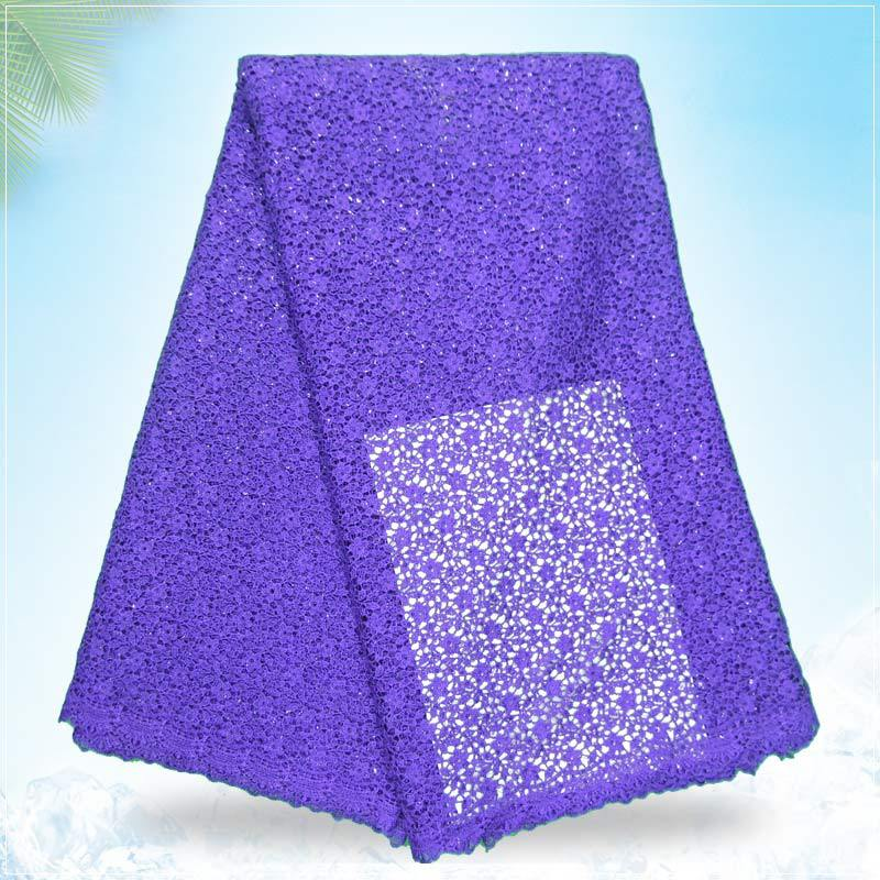 latest style lace/high quality fashion lace/circle pattern african french purple guipure lace fabric for garment g150606(China (Mainland))