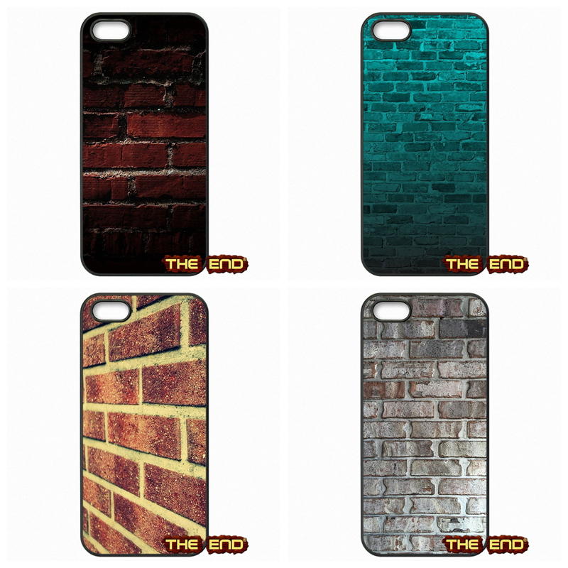 For Apple iPhone 4 4S 5 5C SE 6 6S Plus 4.7 5.5 iPod Touch 4 5 6 Brick Effect Grey walls rocks bricks Phone Shell Cases(China (Mainland))