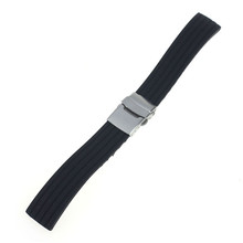 fabulous 2015 1pc new arrival Fashion Silicone Rubber Watch Strap Band Deployment Buckle Waterproof 18mm 20mm