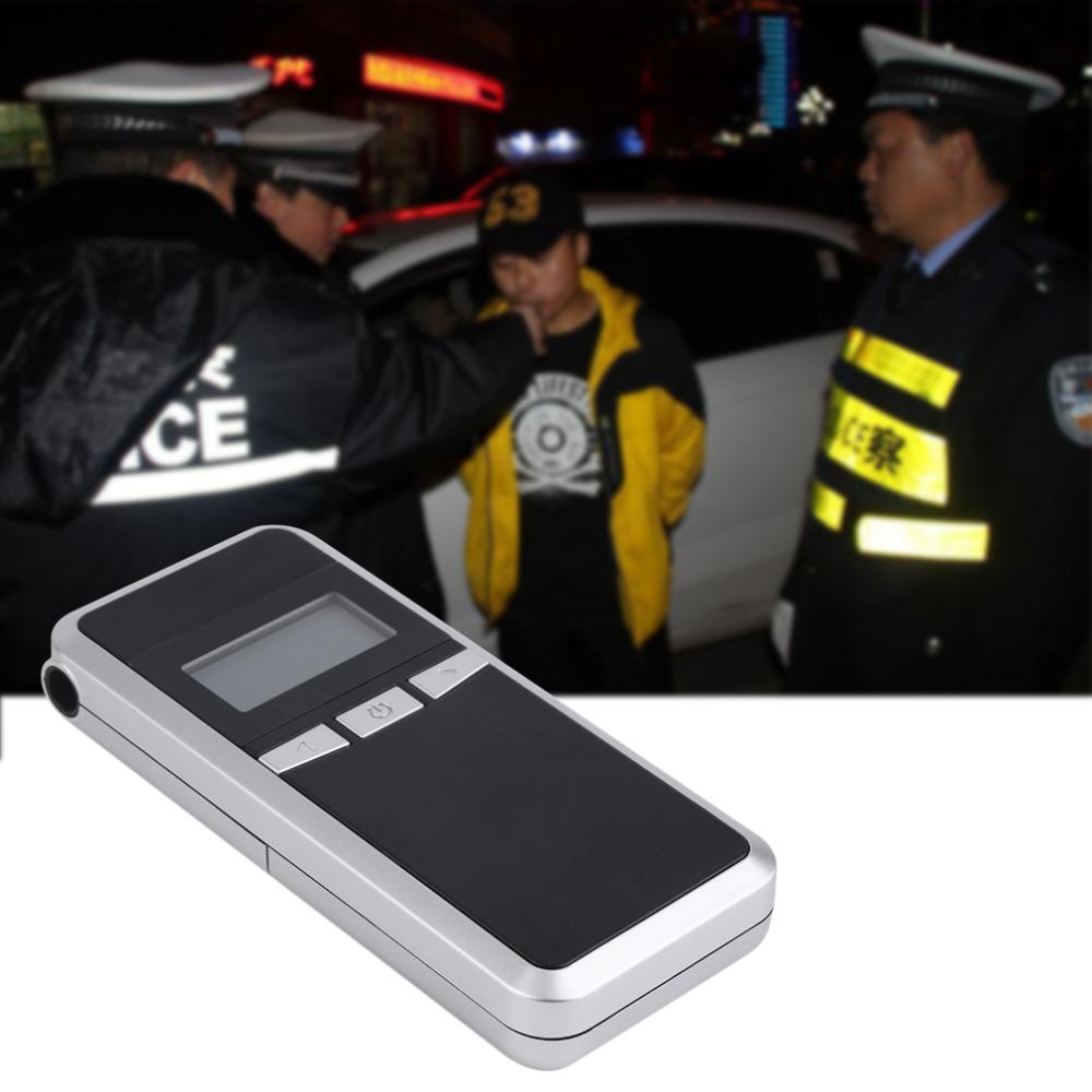 2016 Prefessional полиция метр гаджеты цифровая алкоголя в выдыхаемом воздухе тестер прямая поставка парковка автомобилей детектор аккумулятор алкотестер
