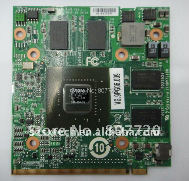 100% New nVIDIA Geforce 9600M GT MXM II,DDR2,1024MB VGA Card G96-630-C1 VG.9PG06.009(China (Mainland))