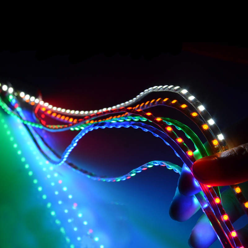 1X New 30CM - 60CM waterproof LED Strip 3528 12V DC SMD Flexible LED Car Strip,white/blue/red/green/yellow car decoration(China (Mainland))
