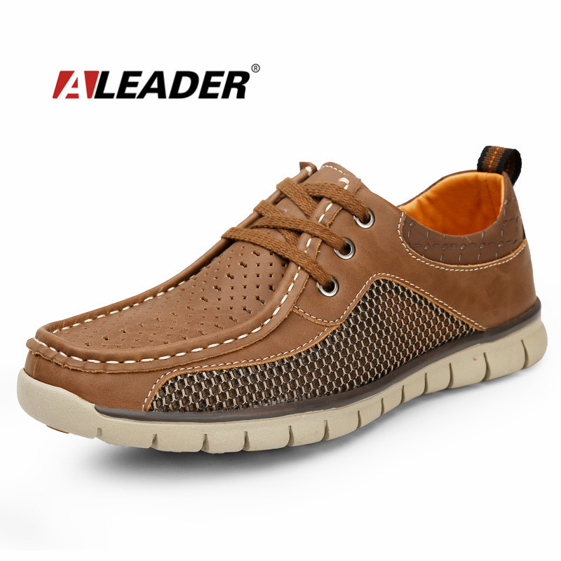 Breathable Mens Leather Sneakers 2015 Casual Summer Shoes for Man Fashion Genuine Leather Men Shoes Comfort Formal Shoes Male<br><br>Aliexpress