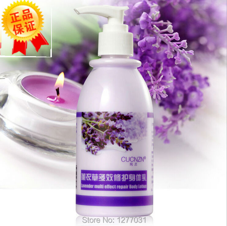 Authentic CUCNZN lavender Multi Effect Body Lotion Body Skin Whitening Moisturizing Chicken skin Horny Remover 250ml Body Cream(China (Mainland))