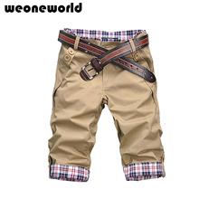WEONEWORLD Men's Casual Straight Pants Fashion Slim Fit Hot Sale New 2016 Summer Male Denim Shorts Trousers Men's Clothing(China (Mainland))