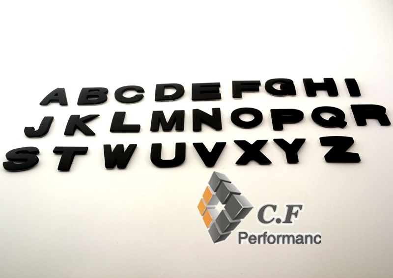 1PC DIY Black Letter Alphabet Symbol Badge Sticker Auto Body Side Boot Fender Decal For CTS SPORT CTS-V XTS(China (Mainland))