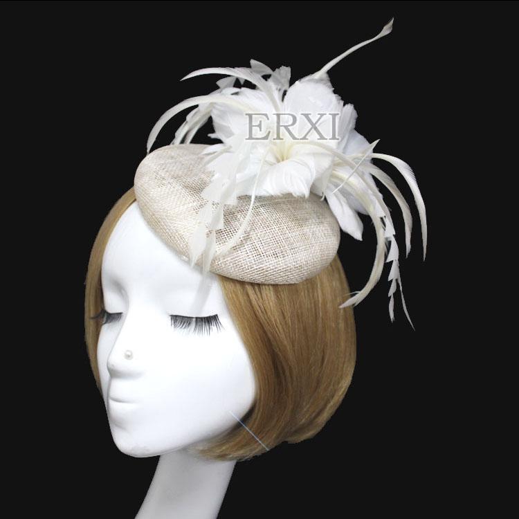 2pcs/lot, wedding hats and fascinators,bridal wedding hats,offer 2 color black,ivory fascinator hat(China (Mainland))