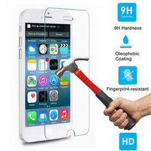 FOR IPHONE 5 5S TEMPERED GLASS SCREEN PROTECTOR TOUGHENED PROTECTIVE FILM COVER FOR IPHONE 5 5S GLASS FOIL 0.3MM 9H 2.5D